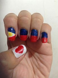 Philippine Flag Nail Art Nail Art Pinterest Flag Nails