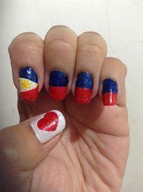 Unghie con bandiere del mondo nail art pinterest html i love philippines nails prinsesfo Images