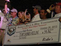 "2013 Bisbee's Black & Blue - 3rd Place Team ""Sooner Reelin"" 343 lb black marlin $34,762.00 http://www.bisbees.com/"