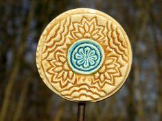 Keramik Beetstecker Pflanzenstecker Gartenstecker von gedemuck