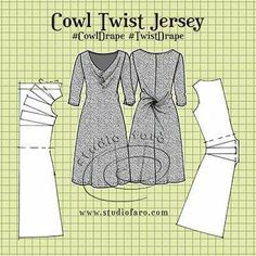 Cowl & Twist Jersey Dress.