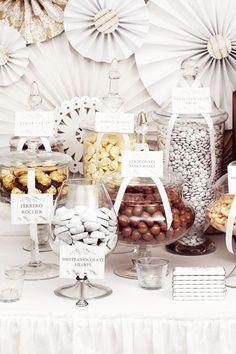 Déco Candy Bar Chocolat Gris Or