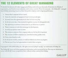 The 12 elements of great managing the employee engagement hierarchy management should managers focus on performance or engagement fandeluxe Choice Image