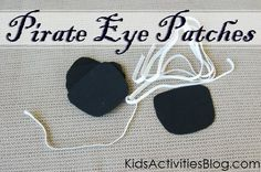 Need a costume ideas for Halloween? Check out these cool, easy to do Pirate Eye Patches!