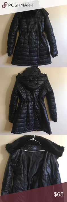 NWOT CHIC by TANTRA COAT.. Size Small.. NWOT CHIC by TANTRA COAT.. Removable Fur Collar and Hood.. Leather Look and Feel with Asymmetrical Zip and Button Closure.. Very Cute.. CHIC by TANTRA.. Jackets & Coats