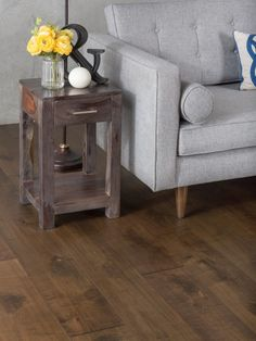 Order GoHaus Clay Maple Engineered Wood Flooring Maple / 10 coats UV-cured aluminum-oxide, delivered right to your door. Maple Hardwood Floors, Engineered Wood Floors, Plank Flooring, Tongue And Groove, House Design, Interior Design, Table, Inspiration, Furniture