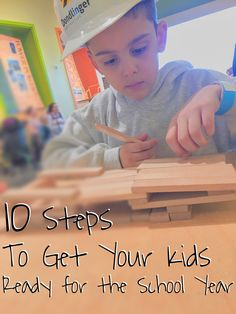 10 easy steps to get your kids ready for the coming school year.