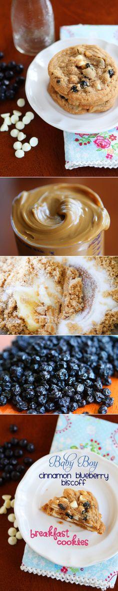 Cinnamon Blueberry Biscoff Breakfast Cookies!