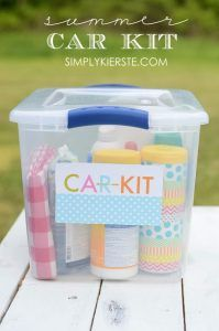 32 DIY Parenting Hacks - Summer Car Kit - Brilliant Parenting Hacks, Tips And Tricks That Will Make Parenting Easier, Parenting Made Fun, Genius Parenting Hacks Every Parent Should Know, Best Parenting Hacks, Extremely Clever Parenting Hacks http://diyjoy.com/diy-parenting-hacks