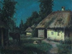 Moonlight Painting, Ukrainian Art, Night, Places, Illustration, Photography, Vintage, Poetry, House