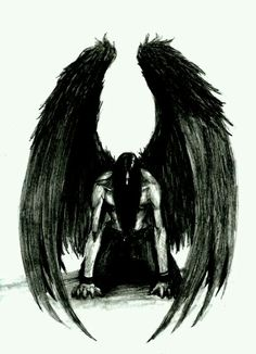A crying Angel Dark Angels, Angels And Demons, Fallen Angels, Dark Angel Tattoo, Tattoos Skull, Body Art Tattoos, Photo Ange, Tattoo Guerreiro, Dark Fantasy