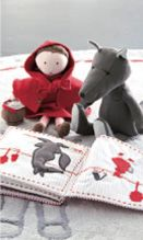 Little red and her wolf in felt