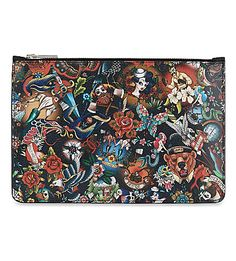 DSQUARED2 Tattoo Print Pouch. #dsquared2 #pouches