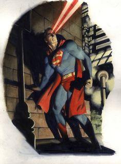 Vintage Superman in Action