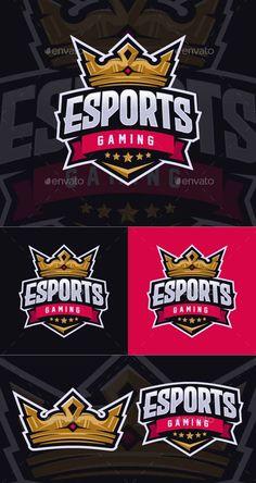 Crown Esport Logo Template PSD, Vector EPS, AI Esports, Logo Templates, Comic Books, Comics, Cartoons, Cartoons, Comic, Comic Book, Comics And Cartoons