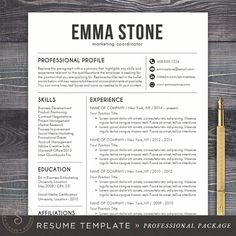 Resume  Resume Stationery And Templates