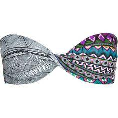 Twist Bandeau- patterned