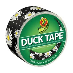 Printed Duck® Brand Duct Tape - Crazy Daisy http://duckbrand.com/products/duck-tape/prints/standard-rolls/crazy-daisy-188-in-x-20-yd?utm_campaign=color-duck-tape-general&utm_medium=social&utm_source=pinterest.com&utm_content=printed-duct-tape