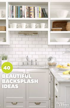 Kitchen Backsplash Ideas to Inspire Your Next Kitchen Makeover Kitchen Redo, Kitchen Backsplash, Kitchen And Bath, New Kitchen, Kitchen Remodel, Kitchen Dining, Kitchen Cabinets, Backsplash Ideas, Subway Backsplash