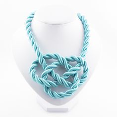 """The eye catching necklace that transforms every outfit in """"The Outfit of the Day"""". With it's strong pink summer color this piece will get you a Pink Summer, Summer Colors, Silk Satin, Alter, Outfit Of The Day, Turquoise Necklace, Necklaces, Queen, Unique"""