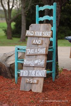 Rustic Wedding SEATING Sign Find Your Seat and Take A Shot Reception Sign by CountryWeddingSign, $60.00
