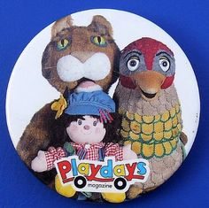 Playdays also known as Playschool and Playbus. I can remember Peggy Patch and the Why bird, but not the cat!