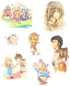 Harvest Moon sketches