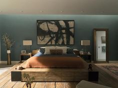 Celeste and Perry's bedroom. Picture: Hilary Bronwyn Gayle/HBO