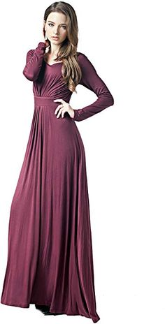 a146c5211d6 Charm Your Prince Women s Designer Round Neck Long Sleeve Maxi Dress at Amazon  Women s Clothing store