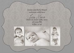 FREE birth announcement photoshop template
