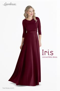 Learn to Style the Iris Maxi Convertible Dress in the Jennifer Style - Cowl Neck Sleeve Style