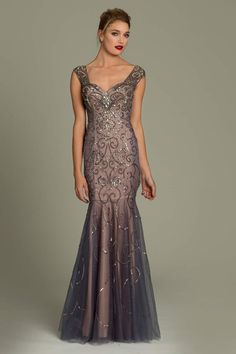 Sleeveless trumpet Jovani gown