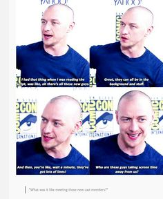 McAvoy on the new cast members in Apocalypse.