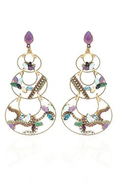 Shop Erickson Beamon Who Are You? Gold Wired Crescent Drop Earrings at Moda Operandi