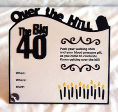 Cute over the hill party invitation #overthehill #party