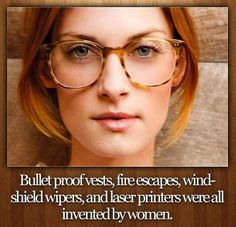 female inventions Bullet proof vests, fire escapes, windshield wipers, and laser printers were all invented by women!