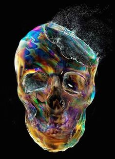 Bubble skull, going to get this printed on to canvass