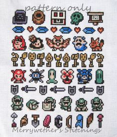 Legend of Zelda - Link's Awakening - Band Sampler Cross Stitch PATTERN