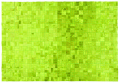 "Edelman Leather ""basketweave"" cowhide rug in Chartreuse."