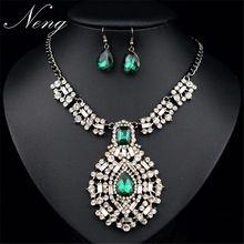 Za sistema de la joyería mujeres 2015 Vintage BOHO étnico turcos cristal borla capa Maxi collar colgante con pendientes N1241(China (Mainland))