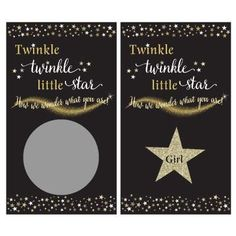 Twinkle Twinkle Little Star gender reveal scratch off cards say How we wonder what you are. Reveal the sex of your baby at a gender reveal party for a surprise. Scratch Off Cards, Custom Candy, Candy Bar Wrappers, Twinkle Twinkle Little Star, Reveal Parties, Baby Shower Games, Gender Reveal, Card Stock, Birthday Cards