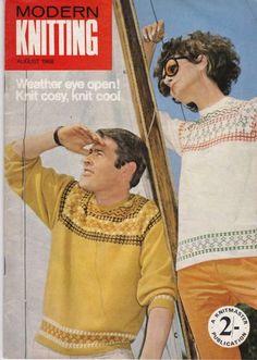 VINTAGE 1960s MODERN KNITTING MACHINE KNITTING PATTERNS MAGAZINE AUGUST 1968