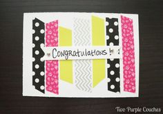 Super CUTE DIY Baby Shower Card - love this!! Or you could do this for any occasion. Cheap and easy!!