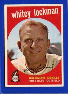 1959 Topps Set Break #411 - Whitey Lockman EXCELLENT 3.4.14