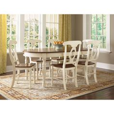 Simply Solid Samaria Solid Wood 6-piece Dining Collection (Dining Set), Beige Off-White, Size 6-Piece Sets