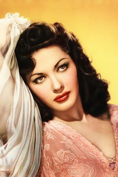 Yvonne De Carlo (1922-2007) * AFI Top Actress nominee. Notable Films: CRISS CROSS (1949); Salome Where She Danced (1945); BRUTE FORCE (1947); SLAVE GIRL (1947); SONG OF SCHEHERAZADE (1947); THE TEN COMMANDMENT (1956); McCLINTOCK (1963)