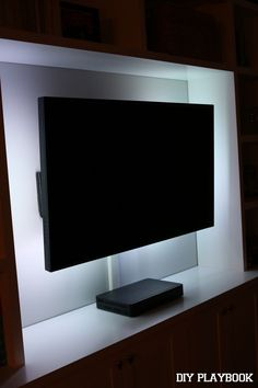 How to add LED lights to your flat screen TV. So easy and such a cool look for your family room.
