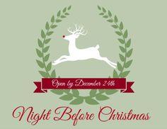Night Before Christmas Box Printable Label     OHMY-CREATIVE.COM