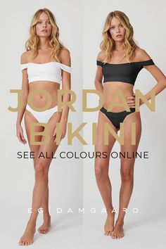 The number one best seller of 2020 - the Jordan Bikini set. Off-the shoulder design and super comfortable to wear. Made in a ribbed recycled fabric that is super soft and quick drying. See all the bathing suit colours online. Swimwear Fashion, Bikini Fashion, High Waisted Bikini Bottoms, Bikini Tops, Only Fashion, Fashion Beauty, Resort Wear For Women, One Shoulder Bikini, Bikini Outfits