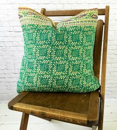 "Willow Kantha Cushion - Handcrafted by women at a co-op in Bangladesh. Kantha meaning 'patched cloth', offers a glimpse into the creativity and artistry of Bengali women.  Young women in Bangladesh are at great risk of being sold into trafficking and are often discarded by husbands or families when they are deemed ""expendable.""  The co-op's vision is help these women rediscover their dignity and inherent value not only through meaningful work, but also by welcoming them as part of their…"
